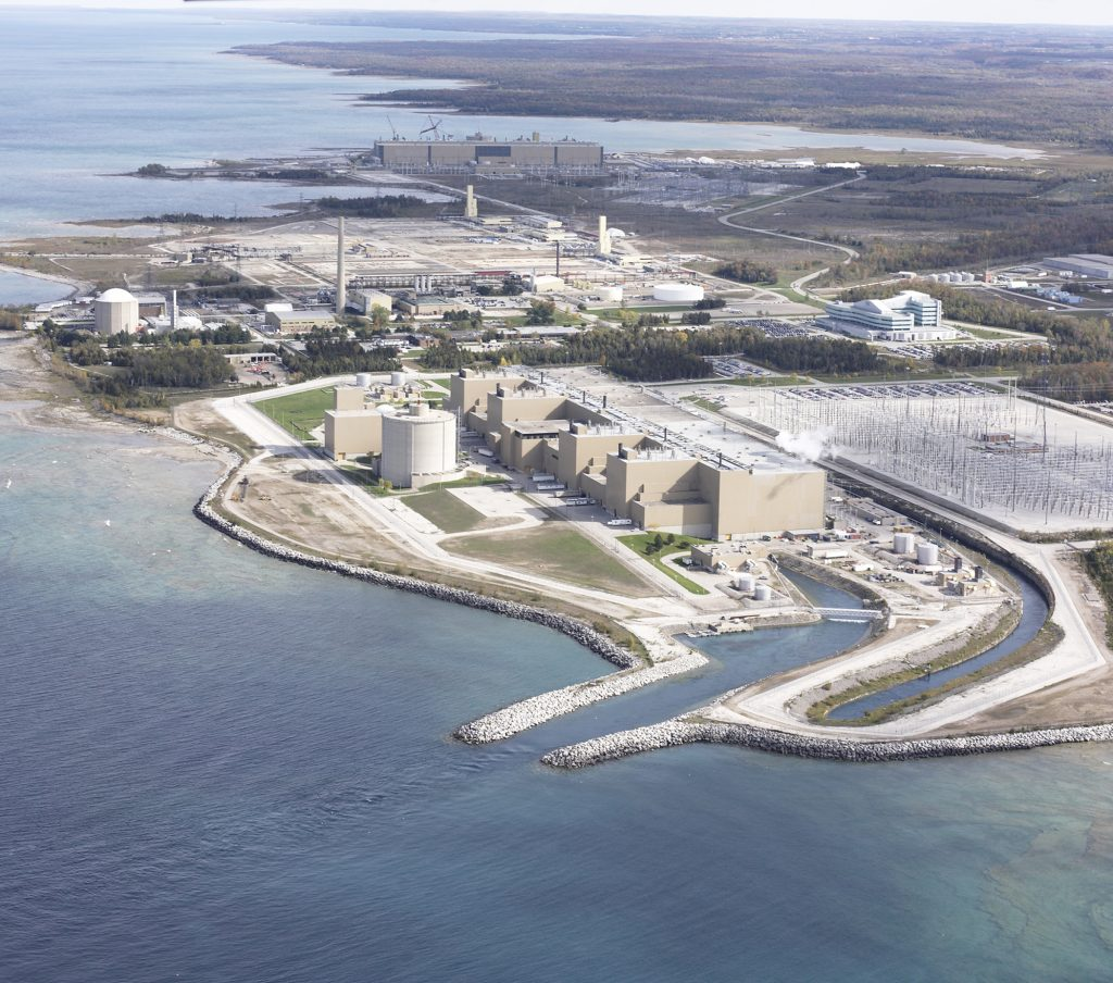 Aerial view of the Bruce Power site.