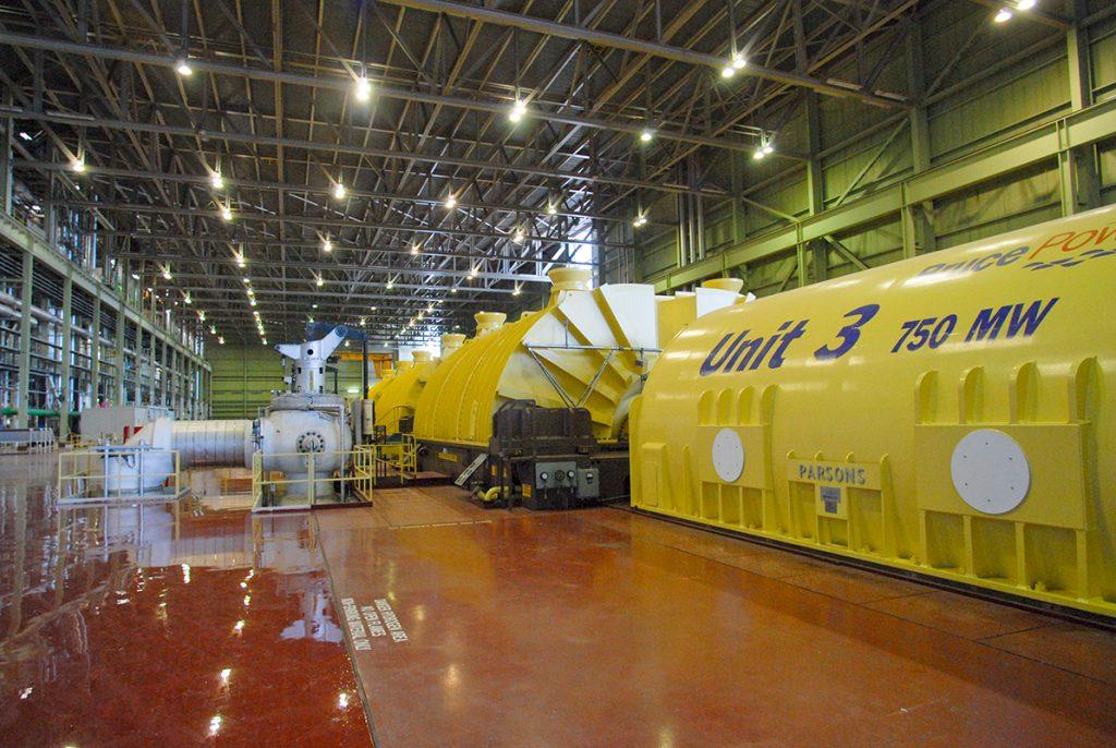 Bruce Power turbine interior