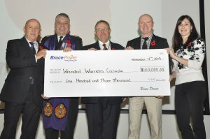 Wounded Warriors Canada donation for $103,000