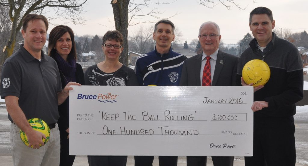 Bruce Power Donates $100,000 to Brockton Soccer Fields