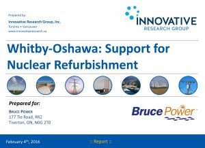 Whitby-Oshawa: Support for Nuclear Refurbishment Report Cover